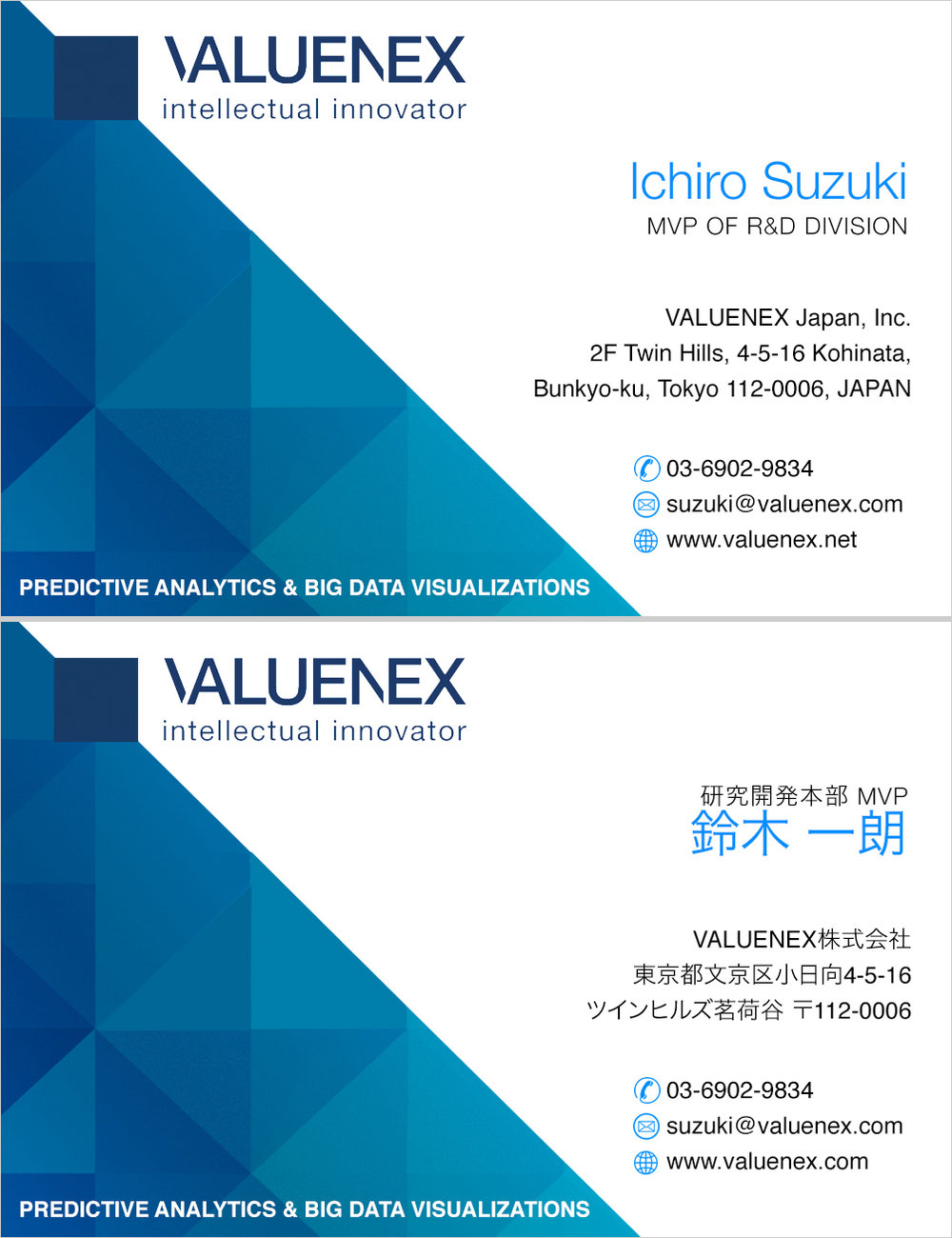 VALUENEX Japan • Option 1