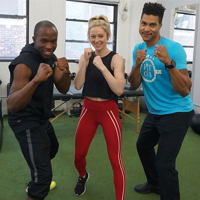 🥊Let's Rumble!🥊 _ Group Fitness instructors I am talking to you! @dagmaralometti knows what's up! You all are amazing, helping New Yorkers stay active day in and day out is not an easy job! We salute you 🏋️♂️! _ We want you to know that the Fit Club team is always looking out for you. We know you are dealing with pain from overuse injuries. Let's connect 📲! Our team understands high level exercise better than anyone. We will provide the recovery services that you need all the way until the 12th round!  _ #fitclubny #membersonly
