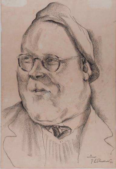 Portrait of Fred Amess By Jack Shadbolt. Image courtesy of the Morris & Helen Belkin Gallery, UBC.