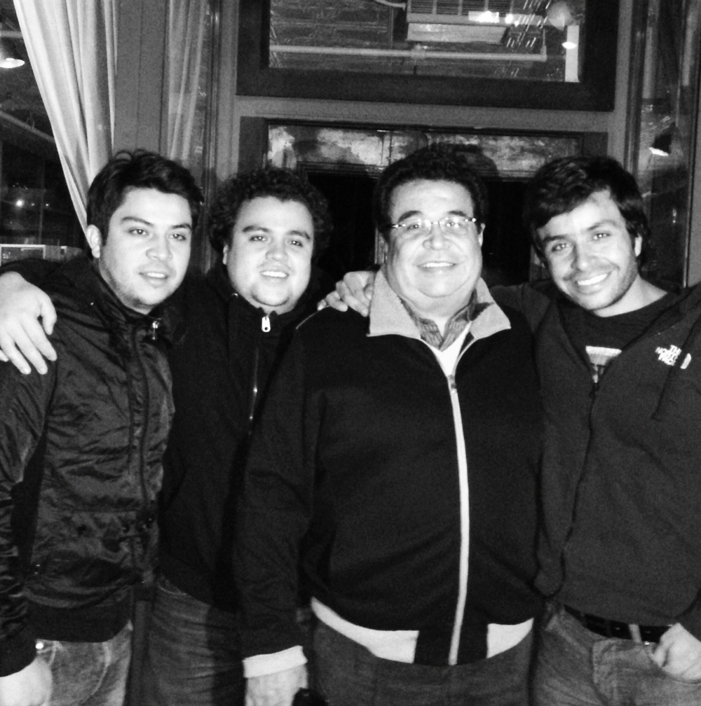 The Torres Family, From left to right, Jaime, Felipe, Armin, and Roger