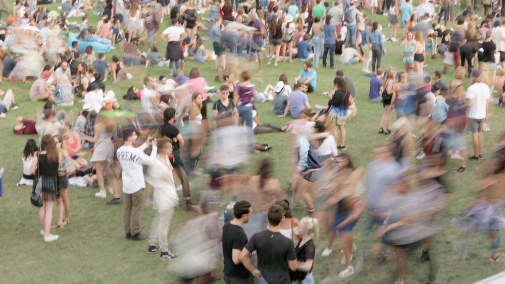 Attendees during the Panorama Music Festival at Randall's Island on July 29, 2017 in New York City.  Rebecca Smeyne/Getty Images for Panorama