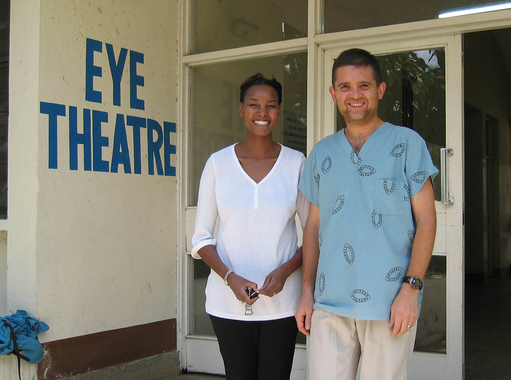 Dr. Tayeri with Dr. Wanjiku Mathenge in Nakuru, Kenya, 2003.
