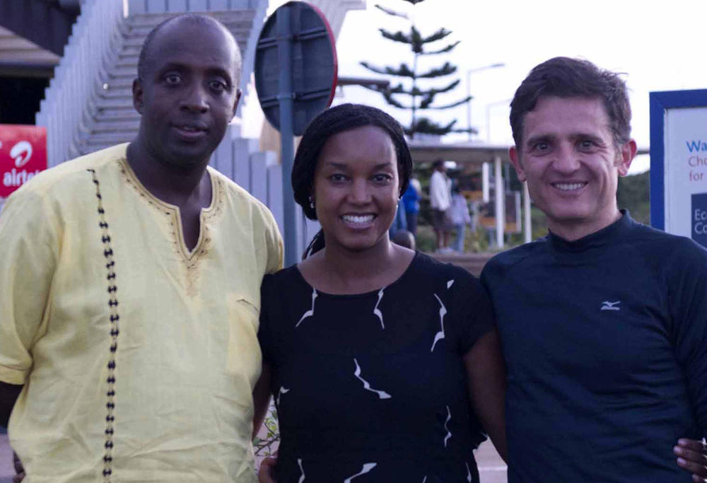 Saying good-bye to Dr. Nkurikye and Dr. Mathenge