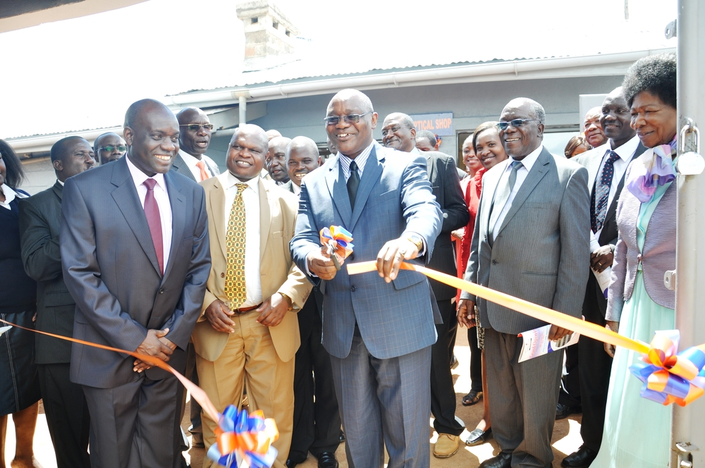 Dr. Kiage with the Governor of Kisii County at the grand opening.