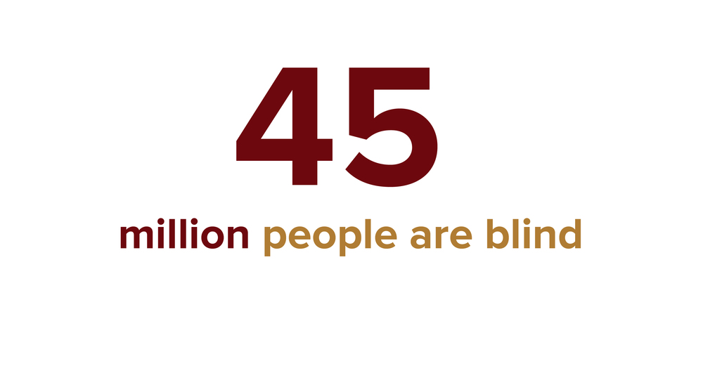 There are 45 million blind people living in the world today.