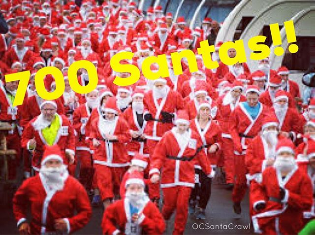 700 Santas!! We are growing every hour! Keep it up. The more the merrier!  Get your tix now: promo code - fbsanta50  #700santasstrong #ocsantacrawl #oc #orangecounty #socal #ca #california #pubcrawl #newportpeninsula #barcrawl #santacrawl #santacon #happyhour #wine #beer #cocktails #ladiesnight #fundraiser #newportbeach #costamesa #laguna #irvine #santaana