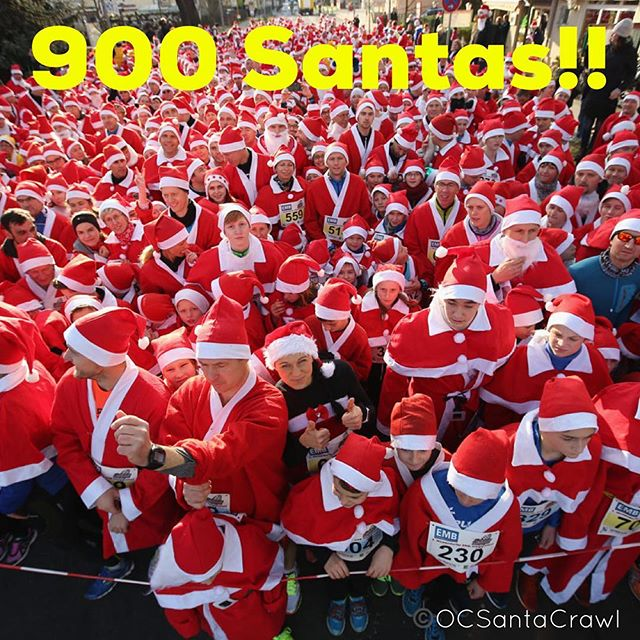 Look what we woke up to!!! 900 Santas Strong!! It's going to be HUGE!!! Keep it going Santas, spread the Holiday Cheer. Get your tix now online use promo code: fbsanta50 to save 50%! #ocsantacrawl #newportpeninsula #newportbeach #orangecounty #cocktails #beer #wine #happyhour #santacon #santacrawl #sexysantas #santa #900santasstrong #costamesa #laguna #irvine #ca #california #socal