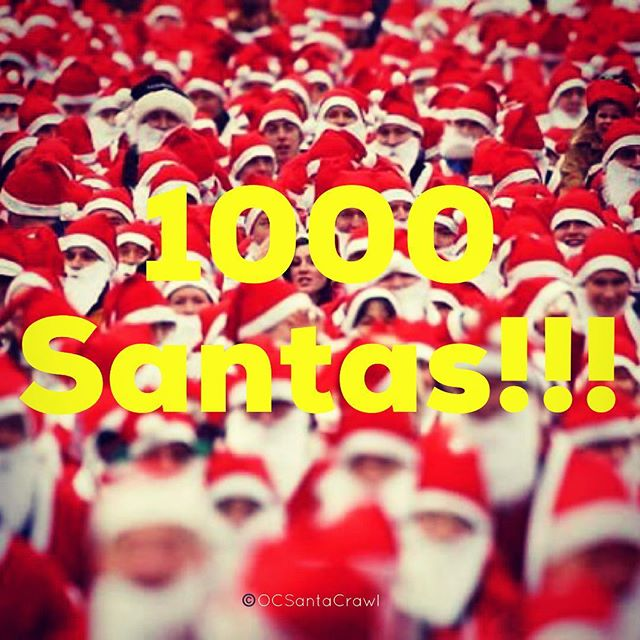 This is why we love this Crawl...1000 Santas Strong! Can we get 200 more before tomorrow afternoon? Let's do this!! #1000SantasStrong #ocsantacrawl #santacrawl #pubcrawl #santacon #newportpeninsula #newportbeach #orangecounty #socal #ca #california #beer #wine #cocktails #santa #sexysanta #fundraiser