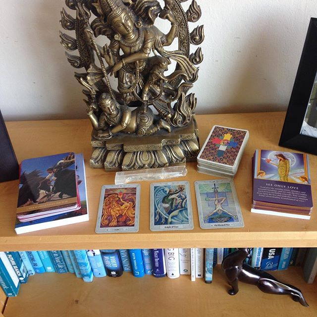 I'm in love with my alter. Cards galore and the magnificent Shiva!