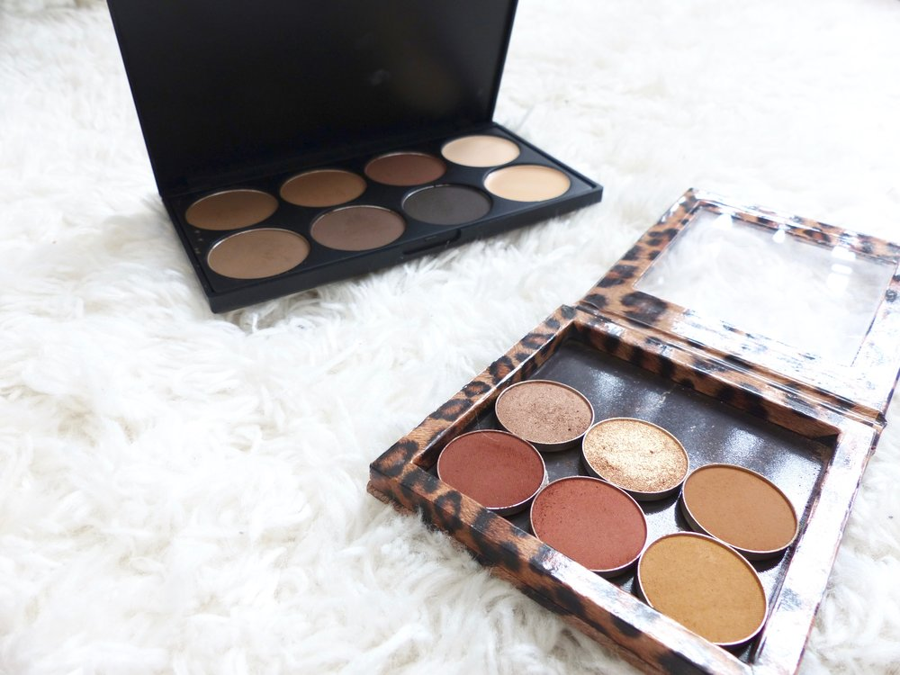 Morphe Eye Brow Palette and Makeup Geek Shadows.jpg