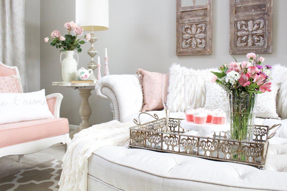 Blush Pink Valentines Decor
