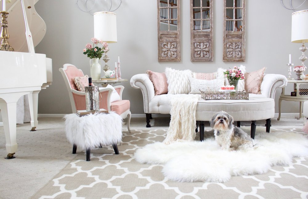 Romantic Blush Pink Living Room Part 75