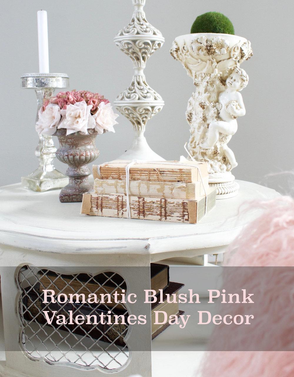 Romantic Blush Pink Valentines Day Decor