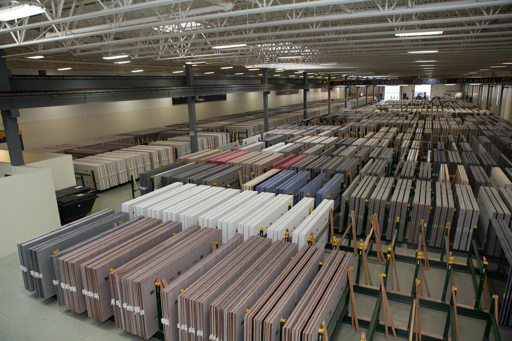 Cambria Slabs at the Plant