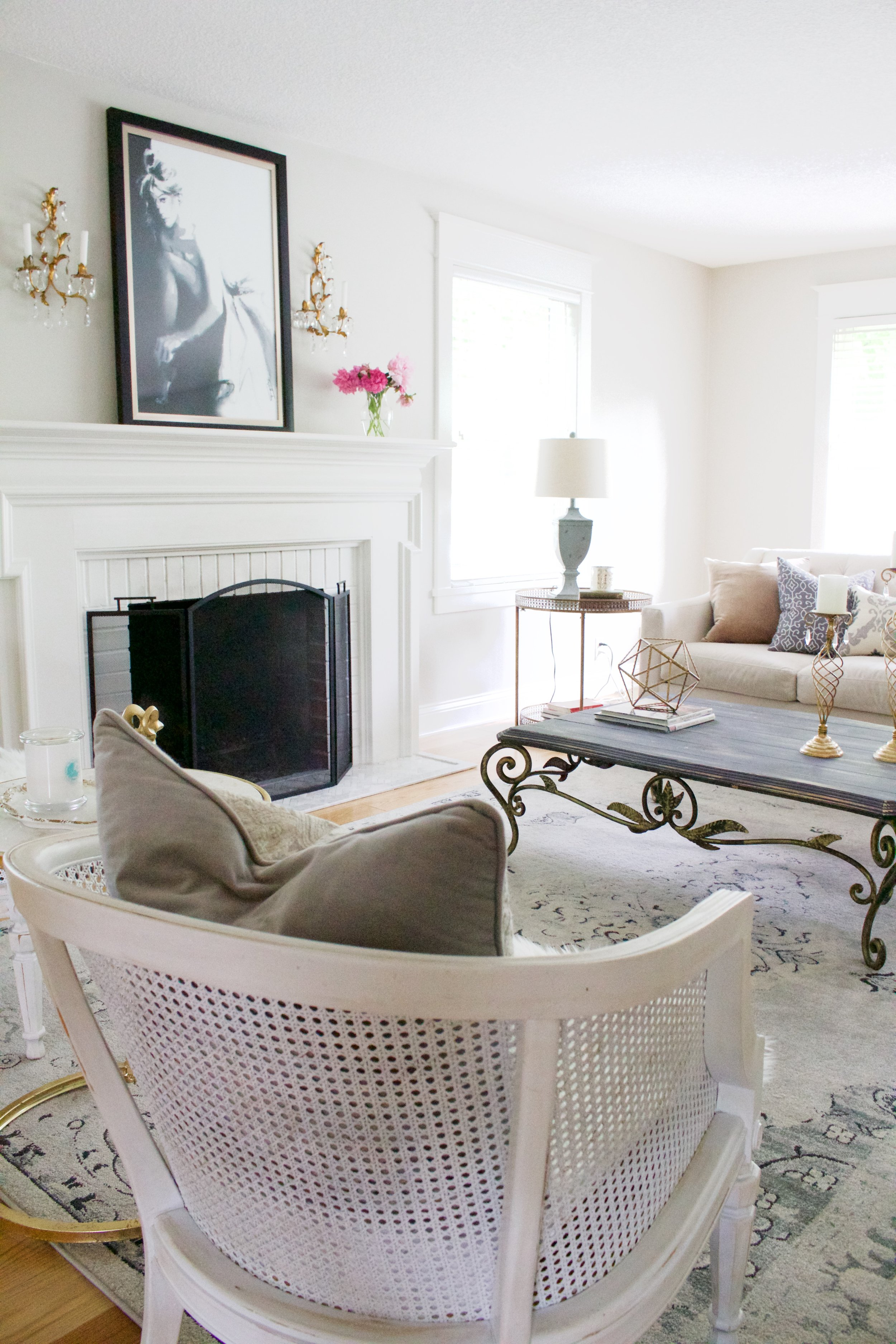 Style Switch Up: Making my Living Room look Parisian - Styled With Lace
