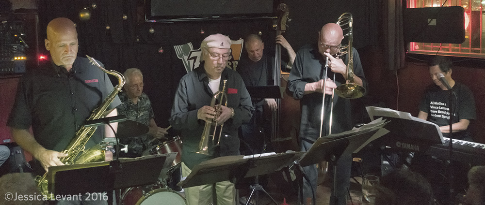 Tod Dickow, Vince Lateano, Al Molina, Peter Barshay, Al Bent, Larry Chinn @ the 7 Mile  (photo by Jessica Levant)
