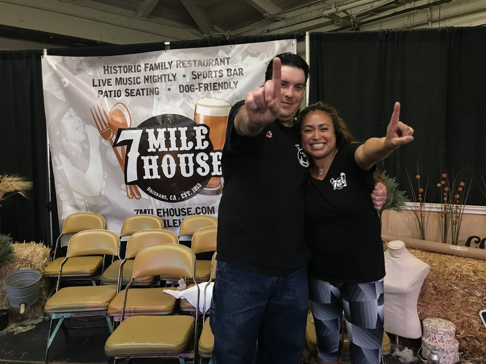 Sean O'Neill and Vanessa Garcia, owner of 7 Mile House