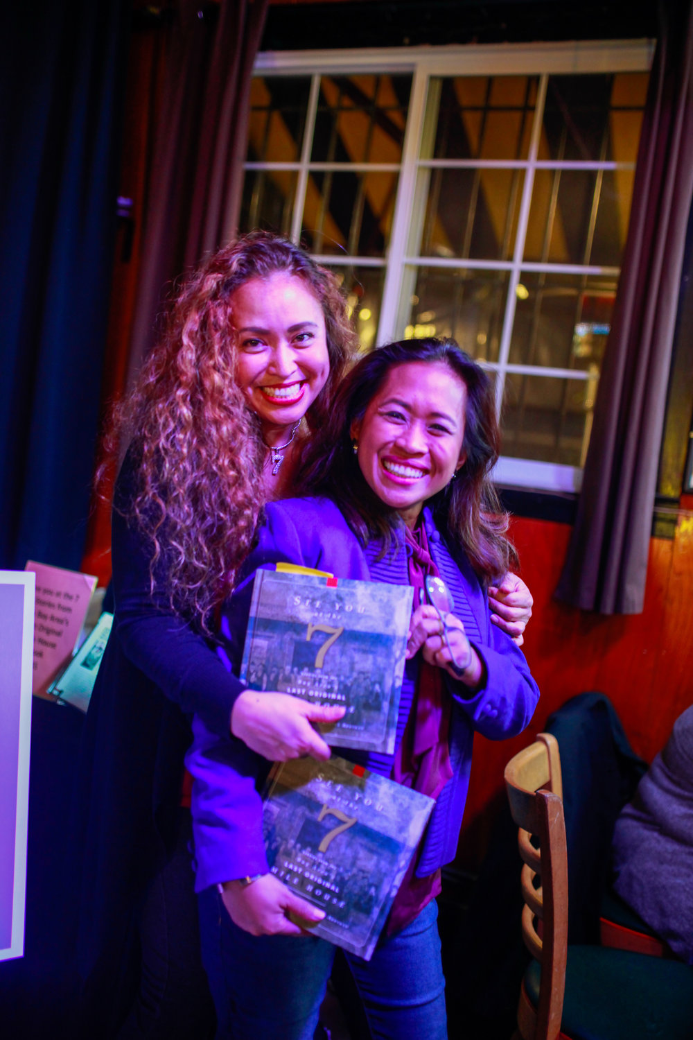 Vanessa Garcia and Regina Abuyuan, cousins and authors of the book 'See You at the 7'.