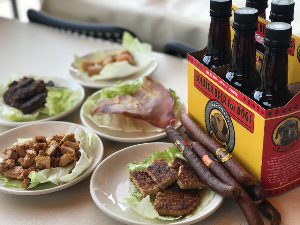 We're the only restaurant in the San Francisco area serving up  dog-friendly beer and cigars !