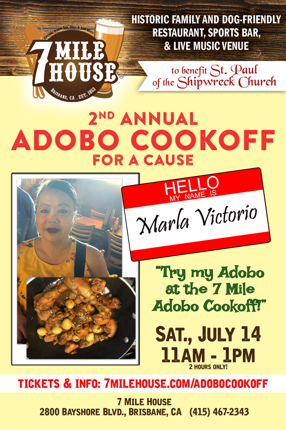 """Marla Guaring Victorio!  :  """"My authentic traditional adobo recipe that's cooked to perfection have awarded me to win the Adobo Festival 2016 Adobo Contest 1st place winner and 2015 Pistahan Ng Nayon Adobo Contest People's Choice Award."""""""