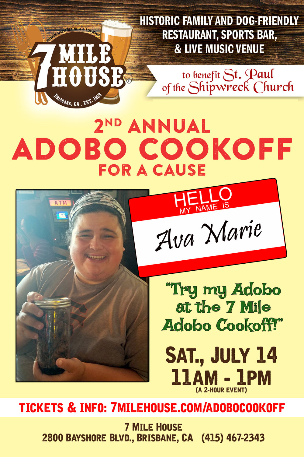 """Ava Marie - """"I'm a food blogger born with autism and a contest cook from South San Francisco California. I was born into a Swedish Norwegian Mexican household. My Adobo tastes good because I got this recipe from my longtime neighbor who is half Filipino. I am known for making chili in South San Francisco and won 3 honorable mentions as well as red, white and blue ribbon awards at the San Mateo County Fair culinary arts. I may be the underdog against these Filipino mama's but am super competitive and let's do this!!!"""""""