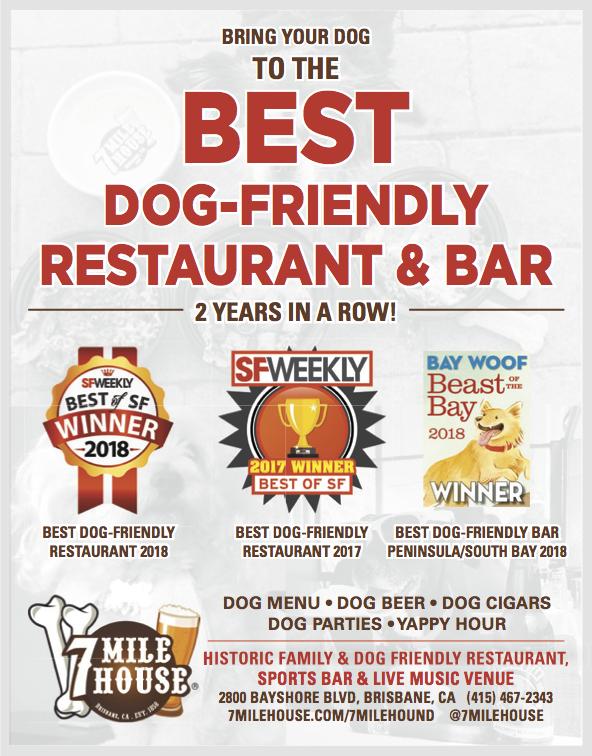 Best dog friendly bar restaurant in south bay san francisco