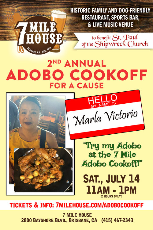 """Marla Guaring Victorio!:  """"My authentic traditional adobo recipe that's cooked to perfection have awarded me to win the Adobo Festival 2016 Adobo Contest 1st place winner and 2015 Pistahan Ng Nayon Adobo Contest People's Choice Award."""""""