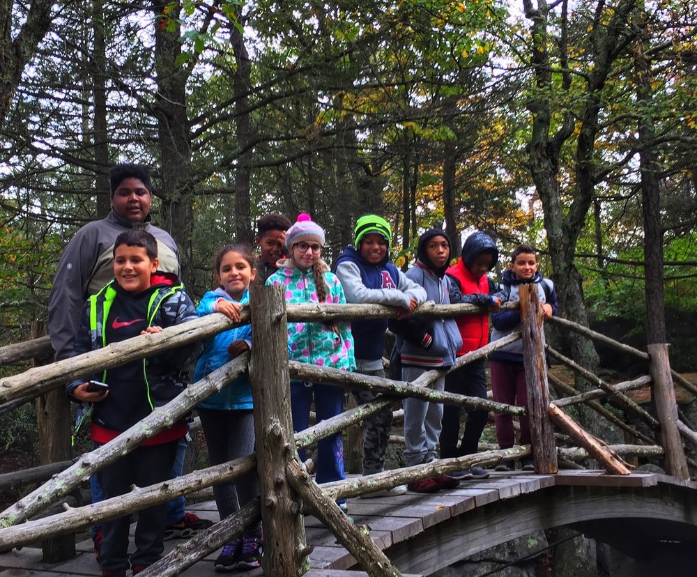 The group- kids from Brooklyn and Yonkers come together to explore Minnewaska State Park