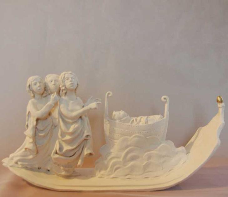 Moses  Porcelain and gold leaf