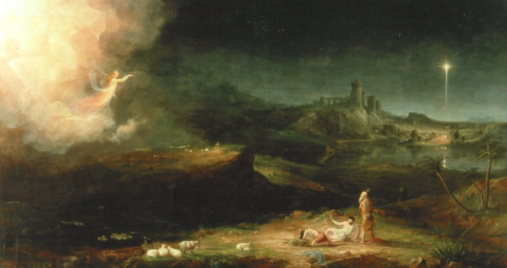 THE ANGEL APPEARING TO THE SHEPHERDS , BY THOMAS COLE.