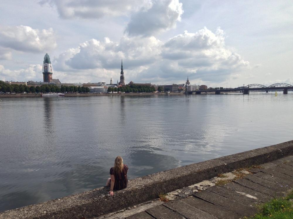 My girlfriend, Gab, taking advantage of Riga's beauty.
