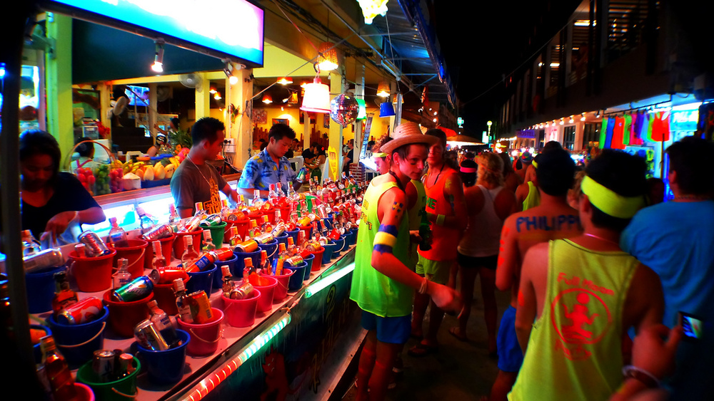 Thailand is no longer the hipster hangout it once was. Here is one of the country's famous full moon parties. Image credit:    Roslyn   /Flickr