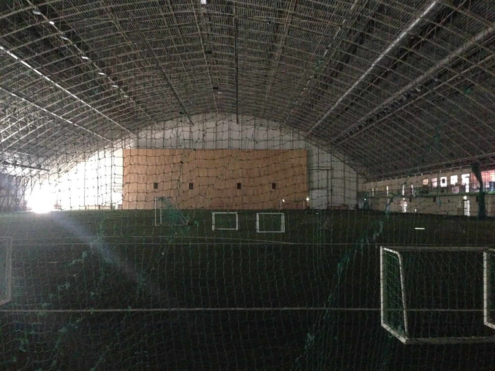 All alone in Skonto's training dome.