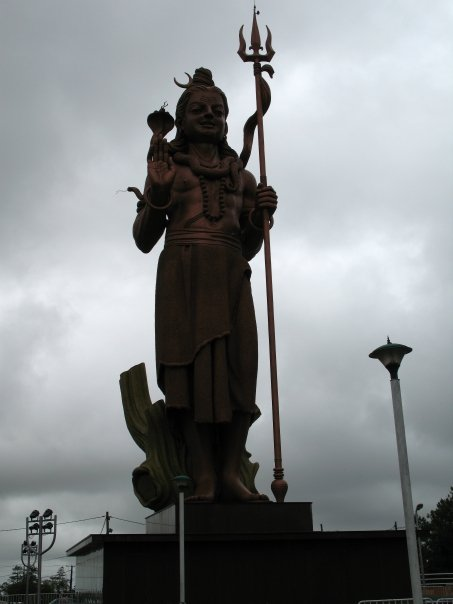 The giant statue of Lord Shiva - the Auspicious One.