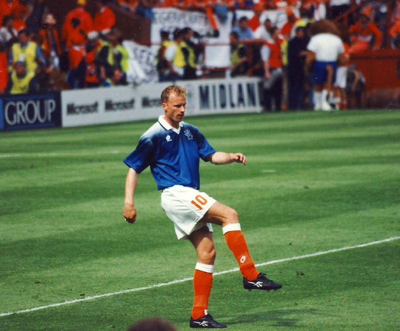 Ex-Arsenal and Netherlands striker Dennis Bergkamp (pictured) developed his flying phobia whilst away on international duty. He was subsequently nicknamed the non-flying Dutchman. Image credit: Nick/Flickr