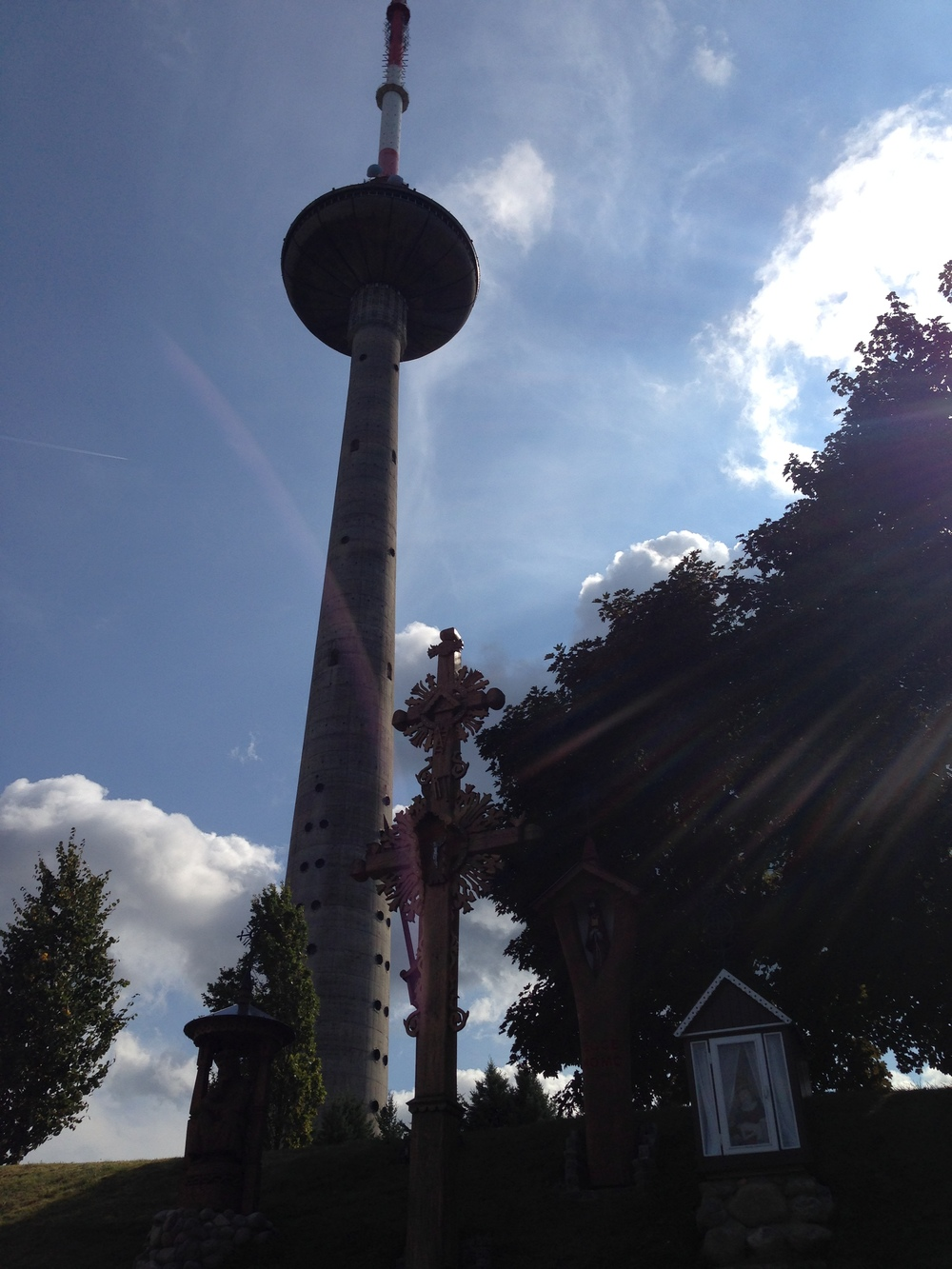 The TV Tower behind tributes for the victims of the January 1993 attacks.