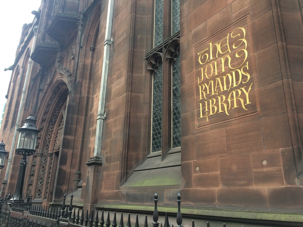 The exterior of The John Rylands Library which can be found on Deansgate.