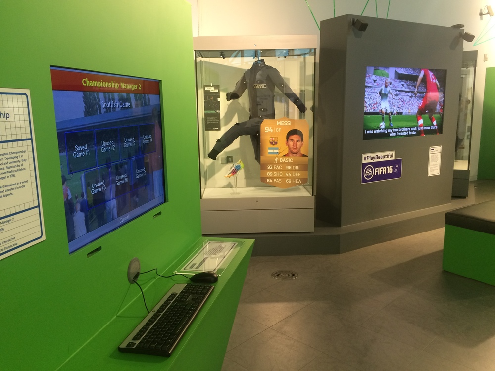 Pitch To Pixel at the National Football Museum.