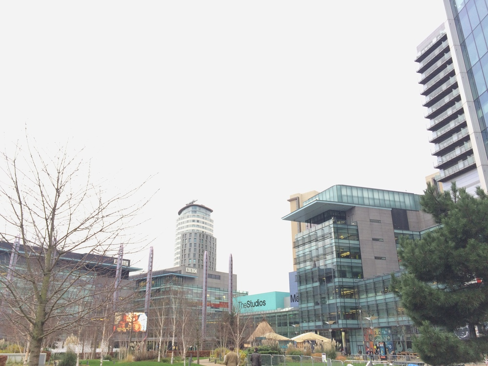 The Studios (pictured just off-centre in this image) where television shows like A Question of Sport are now filmed.