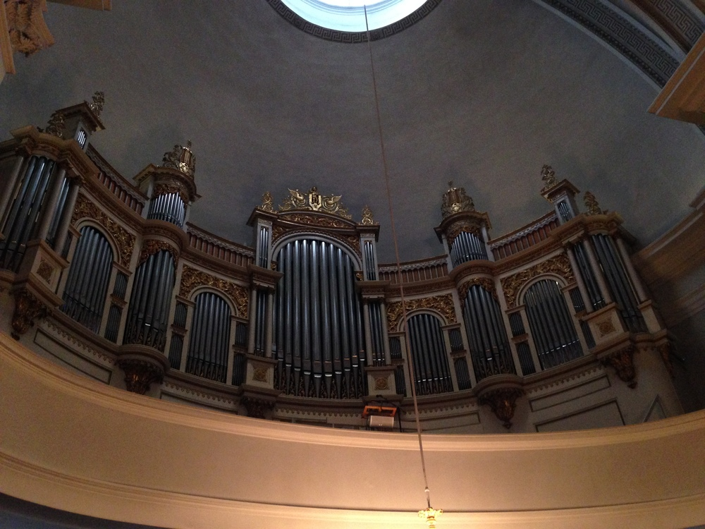 Helsinki Cathedral's organ pipes.