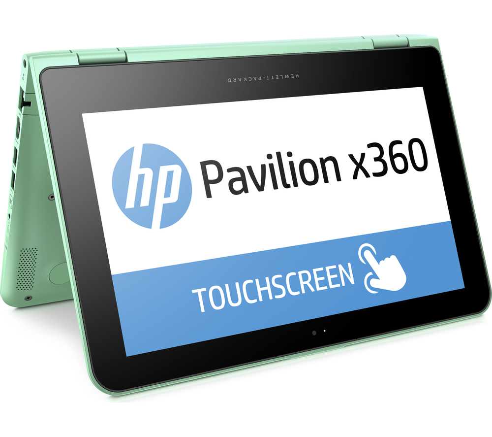 The HP Pavilion x360 has touchscreen capability, and 360-degree hinges to allow it to convert into a tablet. Image credit:  Currys /Fair use