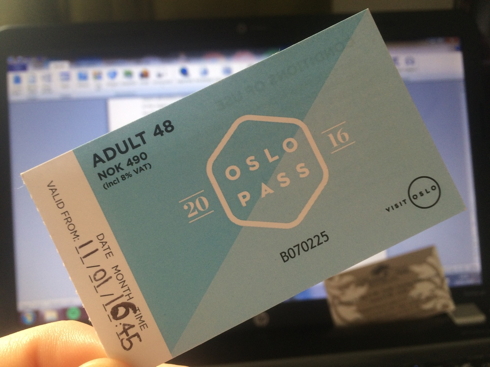 My Oslo Pass covered me for everything we managed to do over the three days.