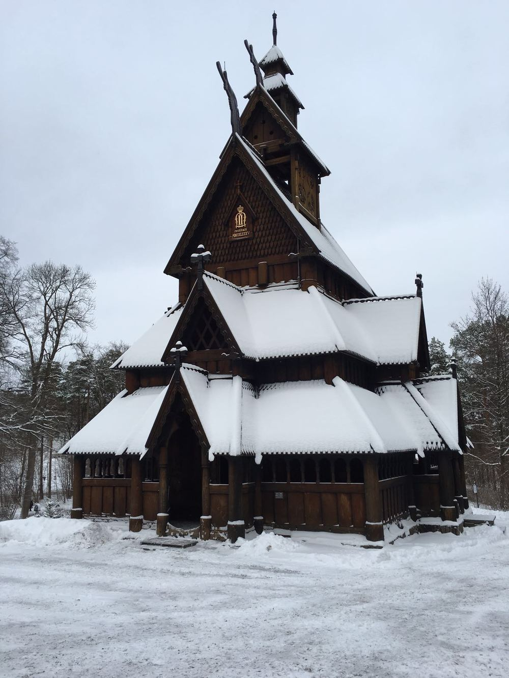 The stave church was brought to Oslo from the municipality of Gol.