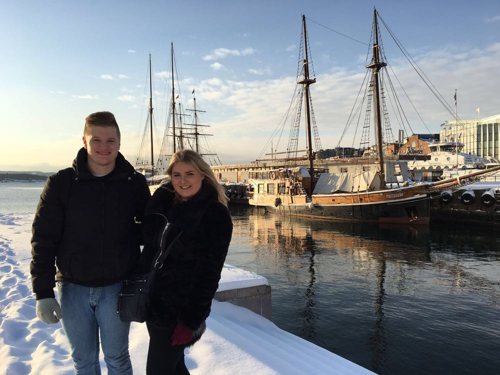 A nice final day image of me and Gab at Oslo Harbour.