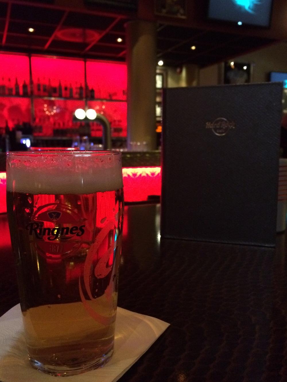 Despite the price, I enjoyed the beer at Hard Rock Cafe Oslo.