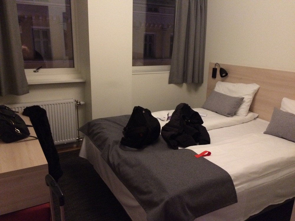 The room is basic, but one of the cheapest in the city. You don't really need any further amenities for a short city break.