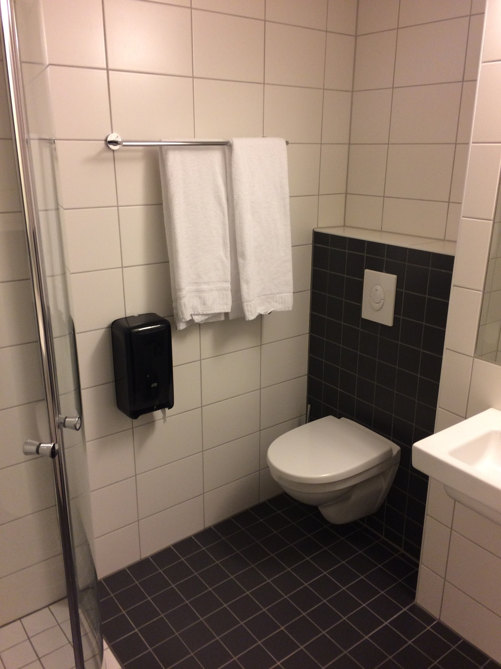 The bathroom was surprisingly a sanctuary of warmth after a long day out in the cold.