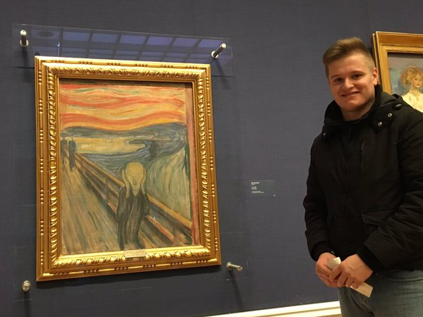 I'm not a big art fan, yet I was still thrilled to be able to see The Scream.