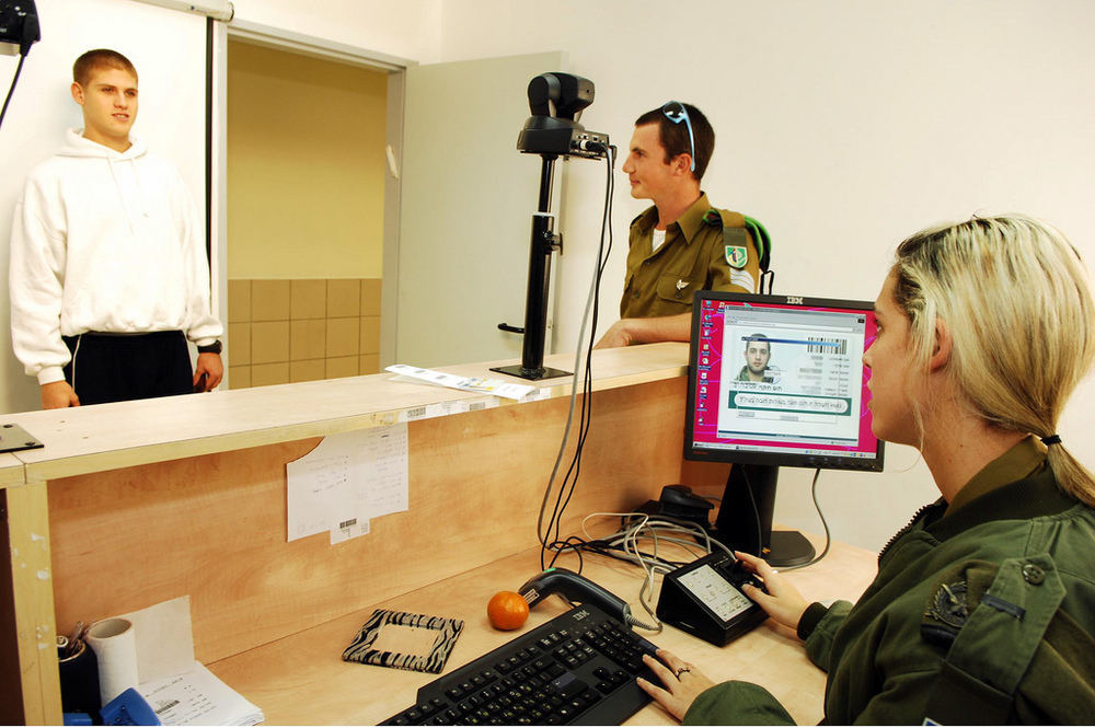 Posing for an ID photograph - not all that easy. Image credit:  Israel Defence Forces /Flickr