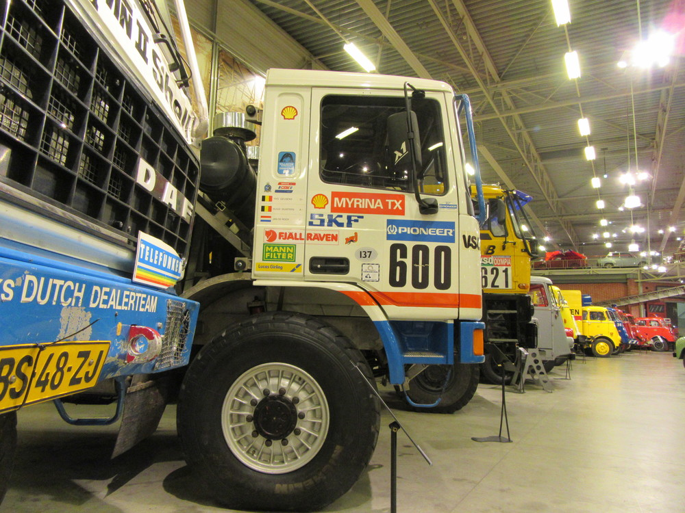 A look at some of the trucks inside the DAF Museum.